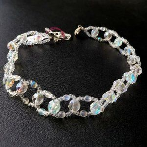Clear Crystal Choker Necklace